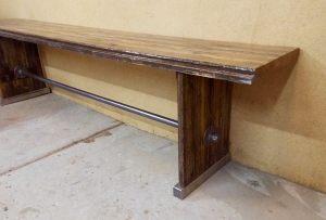 Semi Wood Bench