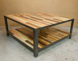 Wood Inlay Coffee Table